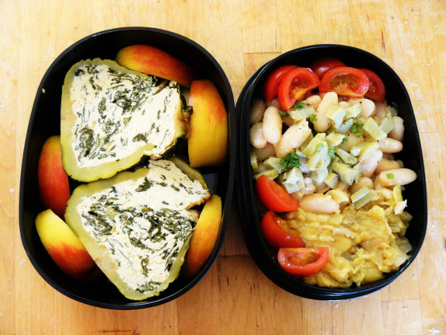 Bento #5: stuffed courgettes