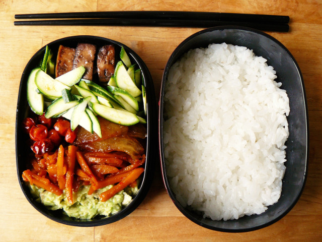 Bento #1: sushi bowl leftovers